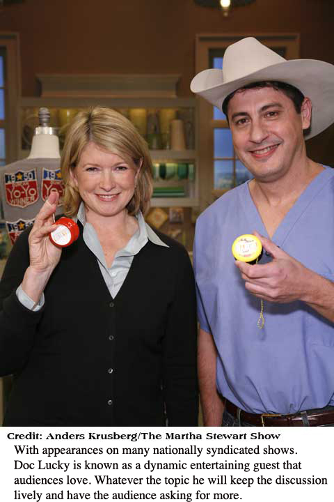 doc lucky and Martha stewart
